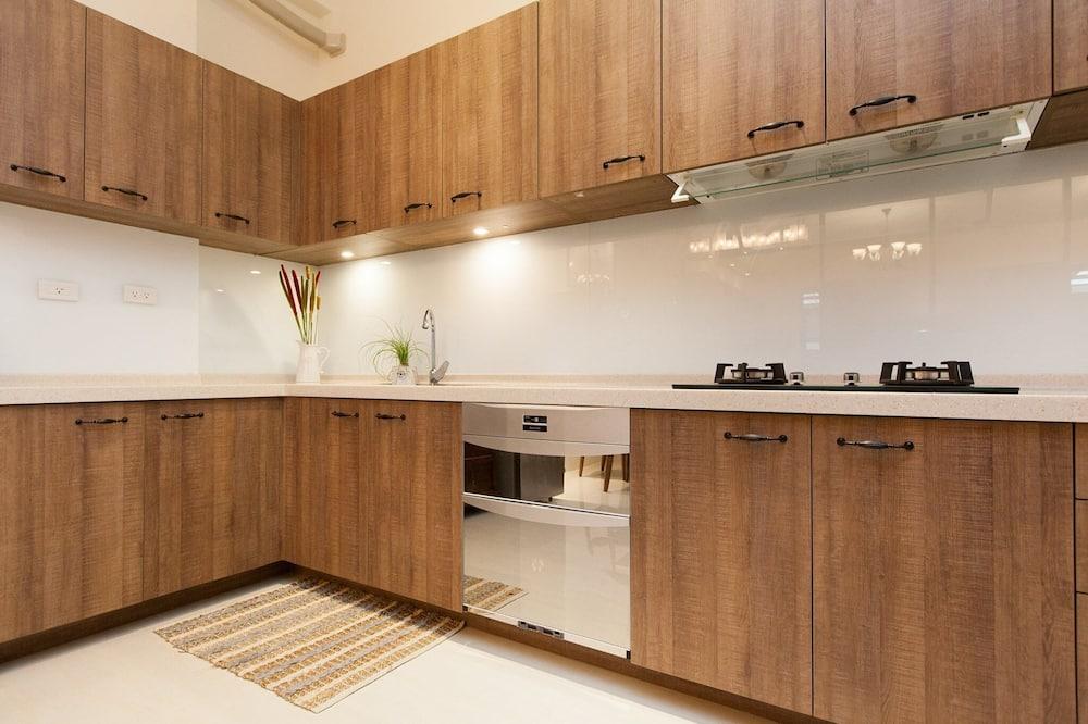 Habitación doble, vistas a la montaña - Cocina compartida