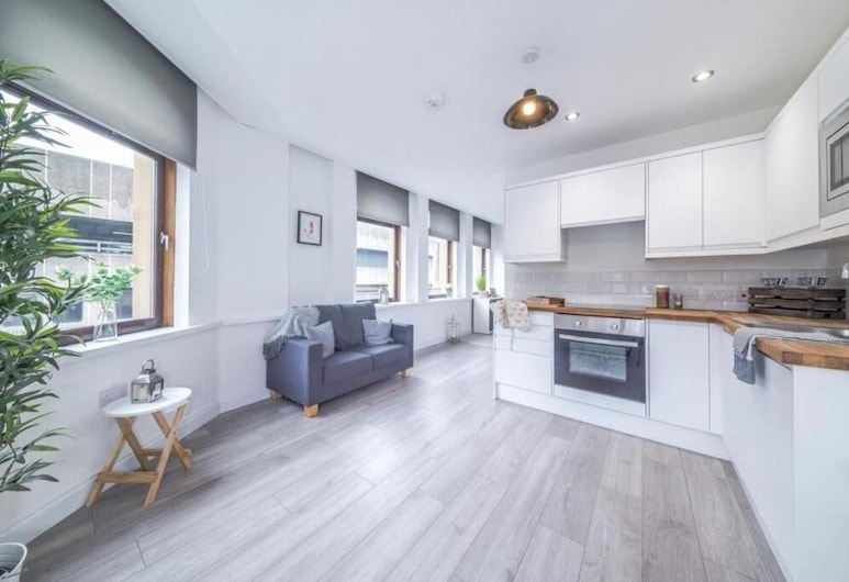 Kirkgate Apartments, Bradford, Apartament typu Deluxe, Salon