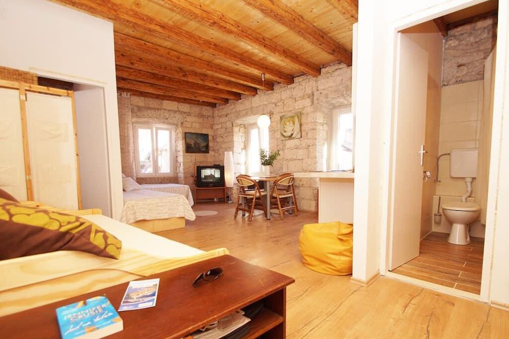 디럭스 아파트, 침실 1개 - 거실 공간