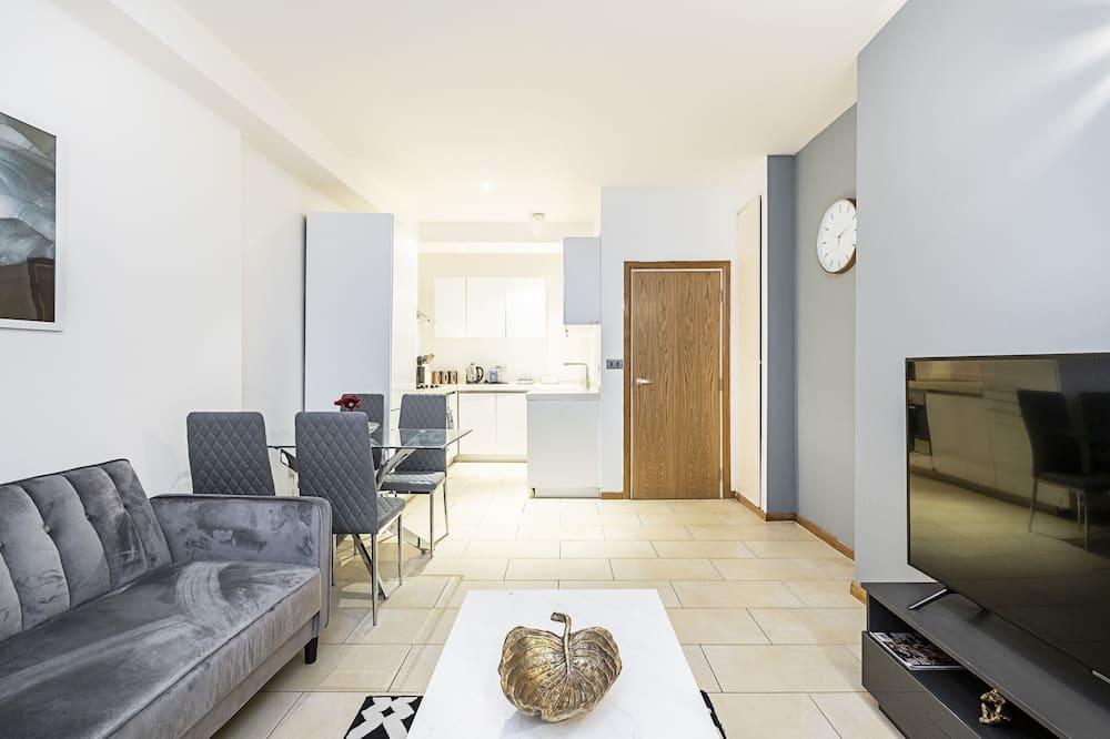 شقة - غرفتا نوم - في الطابق الأرضي (sleeps 6) - منطقة المعيشة