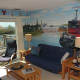 Apartamento Comfort em Condomínio Fechado, 2 Quartos, Vista Lago - Sala de Estar