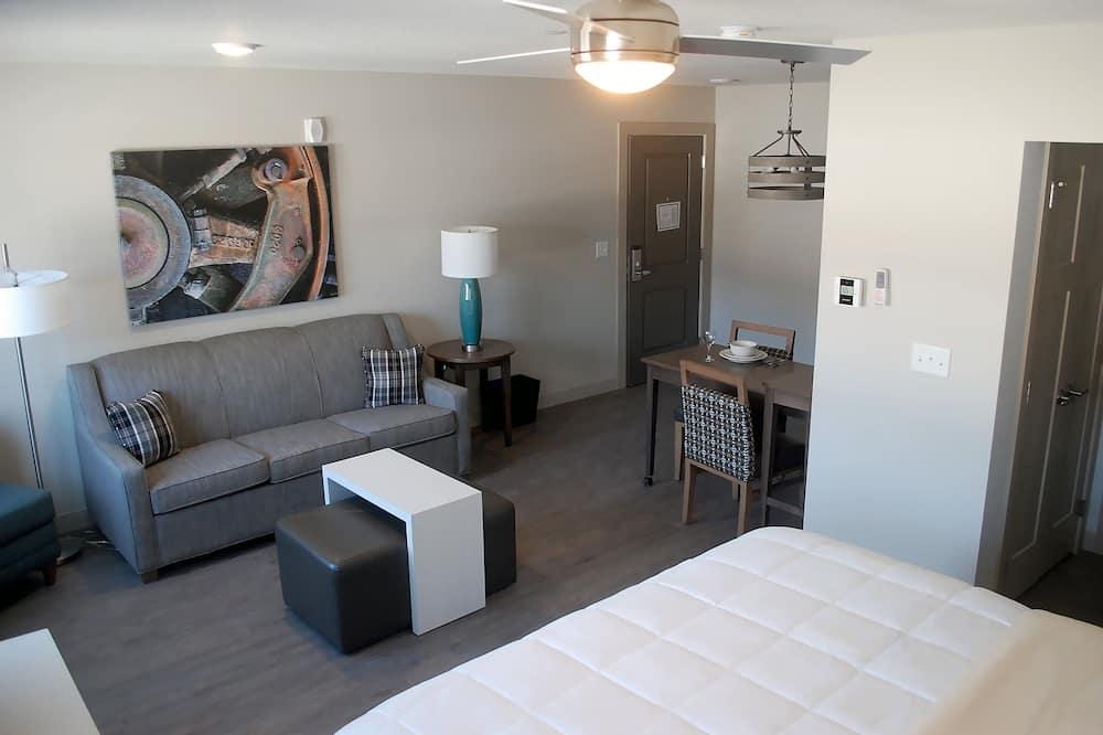 經典開放式套房, 1 張特大雙人床和 1 張沙發床 - 私人廚房
