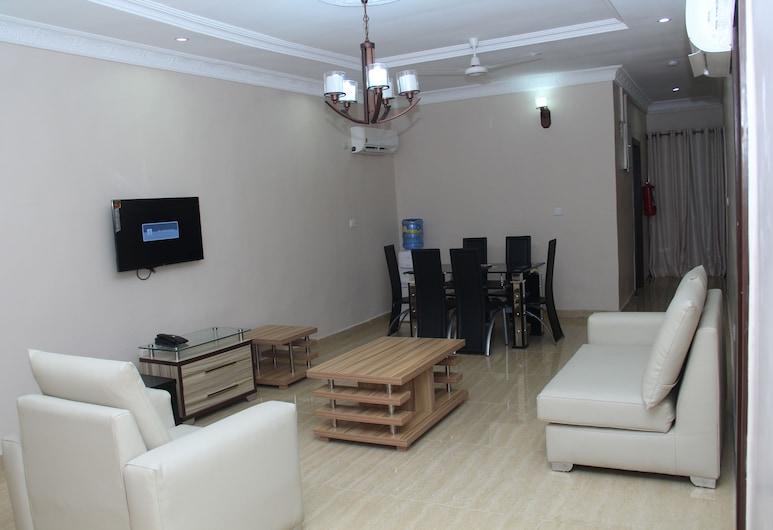 SSCFG Luxury Apartments & Suites, Lagos, Luxury Apartment, 2 Bedrooms, Living Area