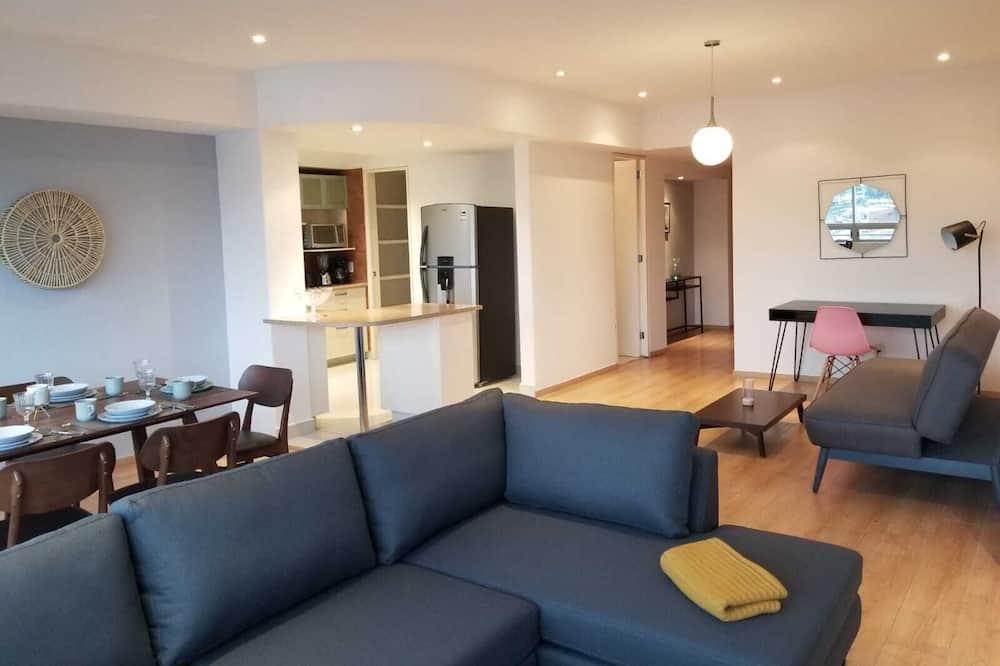 Pamatklases dzīvokļnumurs, divas guļamistabas, nesmēķētājiem (2 Bedrooms) - Dzīvojamā istaba