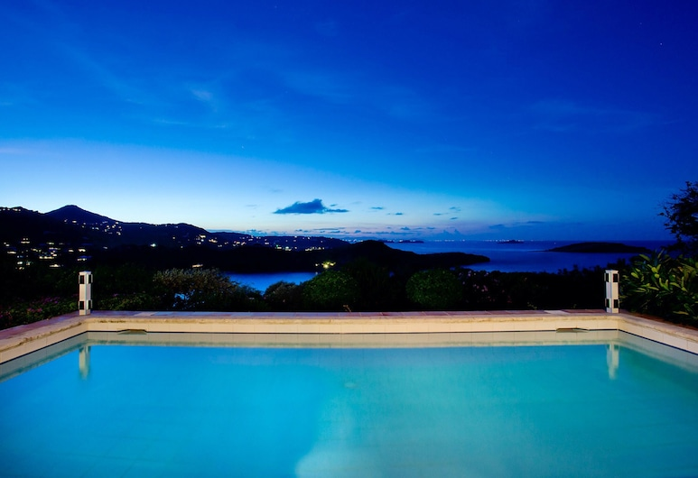Villa With 3 Bedrooms in st Barthelemy, With Wonderful sea View, Private Pool, Furnished Garden - 800 m From the Beach, St. Barthelemy, Alberca