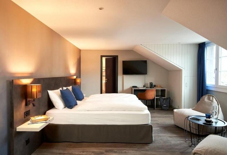 The Hey Hotel, Interlaken, Premium Tek Büyük Yataklı Oda, Oda