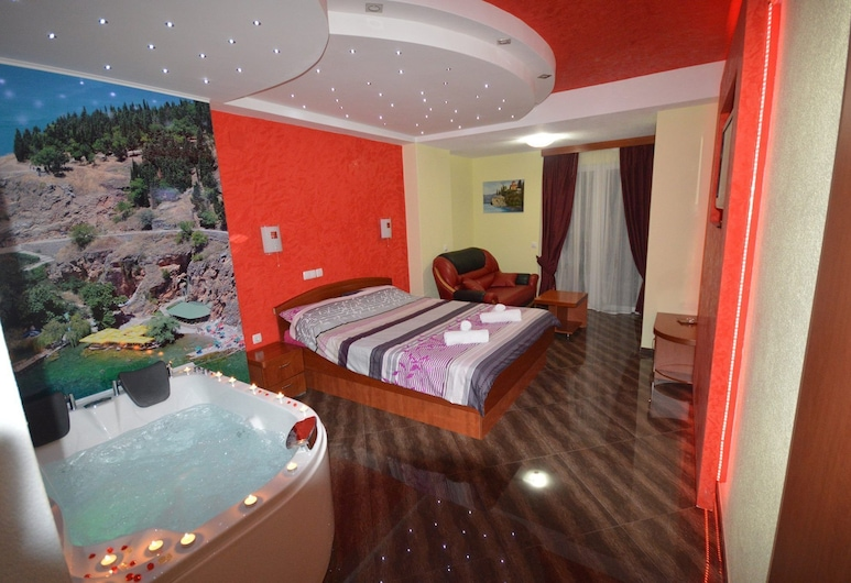 Villa Maki, Ohrid, Studio, Kylpytynnyri, Vierashuone