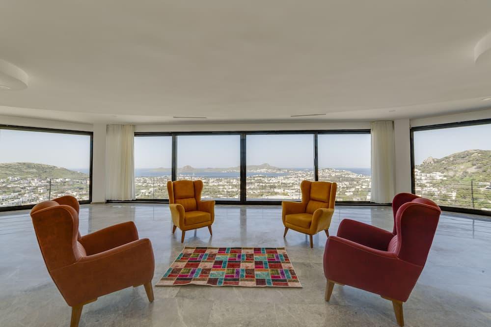 Prezidenta villa, piecas guļamistabas, skats uz jūru - Dzīvojamā zona