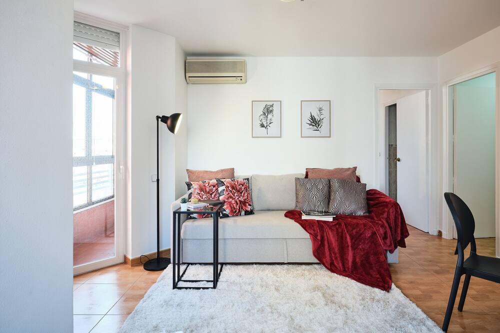 Departamento, 1 habitación, con acceso para silla de ruedas, terraza - Sala de estar