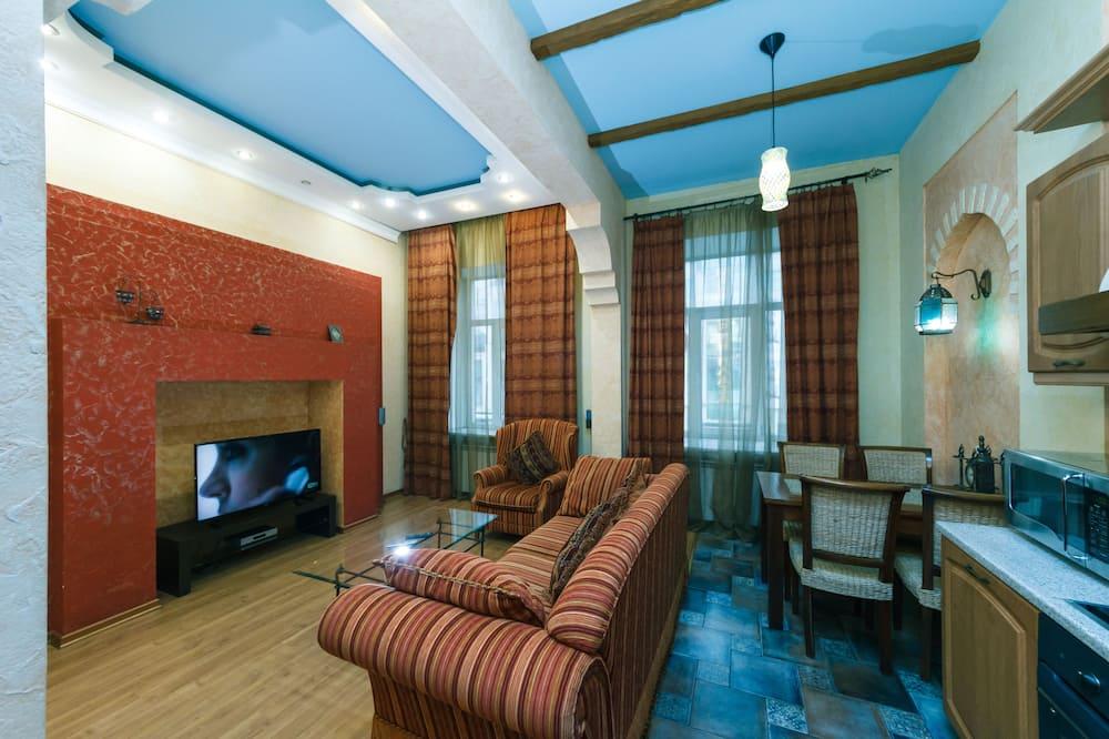 Apartmán, 1 veľké dvojlôžko s rozkladacou sedačkou - Obývačka