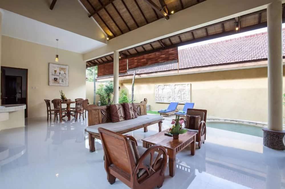Vila, 3 ložnice - Obývací prostor