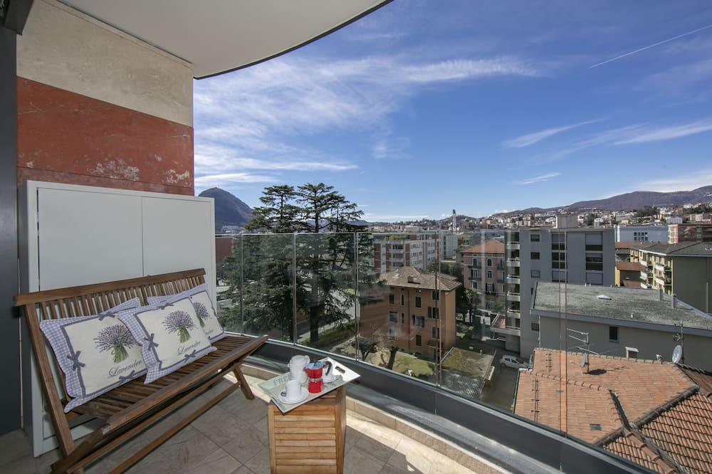 דירה משפחתית, 2 מיטות זוגיות (Panoramic Penthouse) - מרפסת