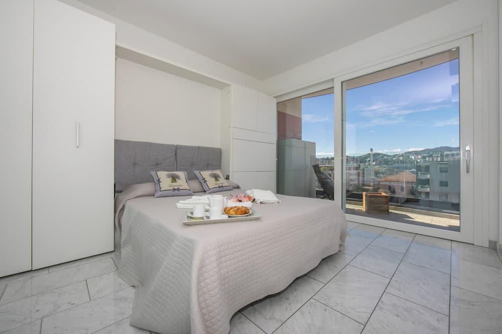 דירה משפחתית, 2 מיטות זוגיות (Panoramic Penthouse) - חדר