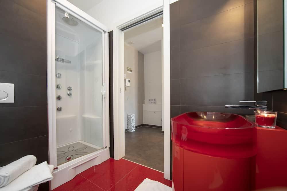 דירה משפחתית, מיטה זוגית וספה נפתחת, נוף להר (Sunrise House) - חדר רחצה