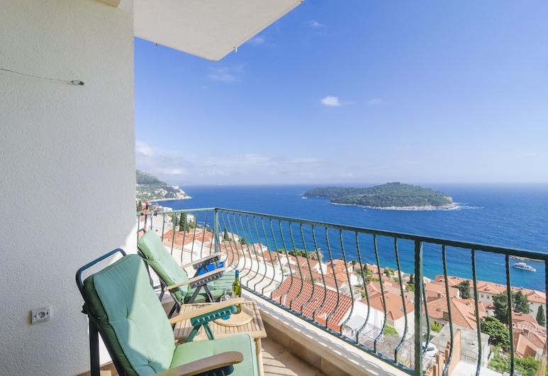 Ploce Apartments - Frana Cale 24, Dubrovnik, Apartamento (Two-Bedroom Apartment with Terrace), Varanda