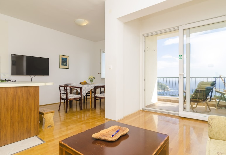 Ploce Apartments - Frana Cale 24, Dubrovník, Apartmán (Two-Bedroom Apartment with Terrace), Izba