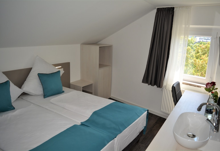 Hotel BaWü, Stuttgart, Dvokrevetna soba, zajednička kupaonica, pogled na grad, Soba za goste