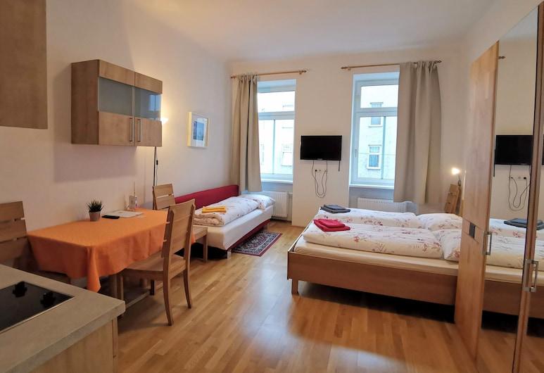 Apartments Hellwagstraße, Viena, Estúdio (Typ A3 20), Área de estar