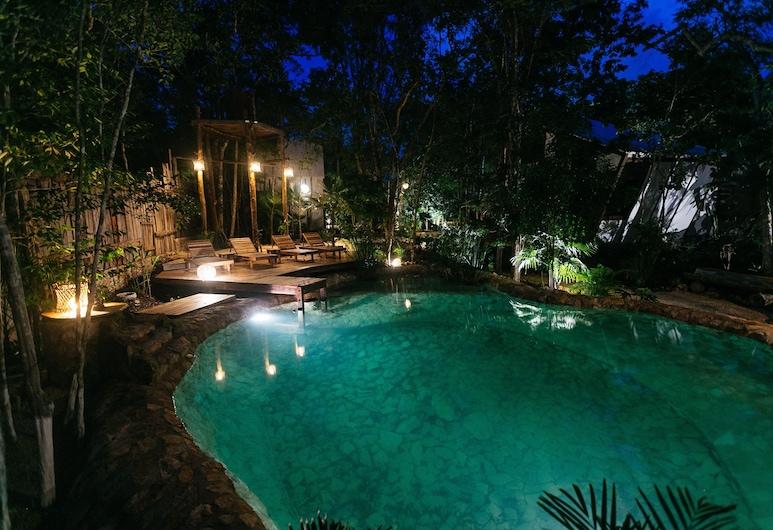 Nahouse Jungle Lodges, Tulum, Přírodní bazén