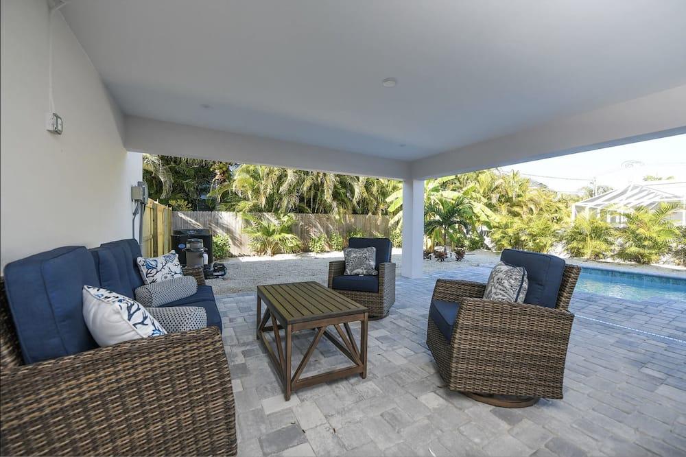 平房, 多張床, 私人泳池, 泳池景觀 - 陽台