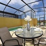 Huis, Meerdere bedden, privézwembad, uitzicht op zwembad - Balkon