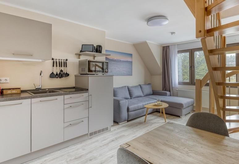 Cozy Holiday Home in Winterberg Near Ski Lift, Winterberg, apartman, Nappali