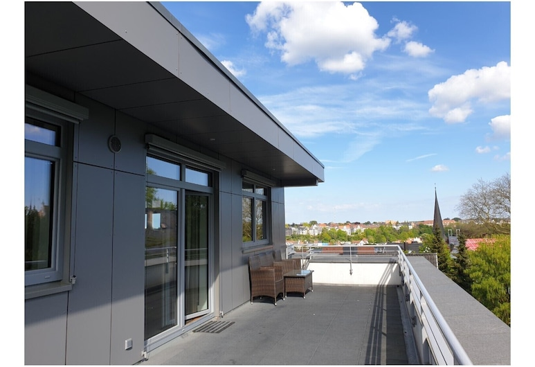 Penthouse at the Museumsberg, Flensburg, Apartment (incl. 150 EUR Cleaning Fee), Terrace/Patio
