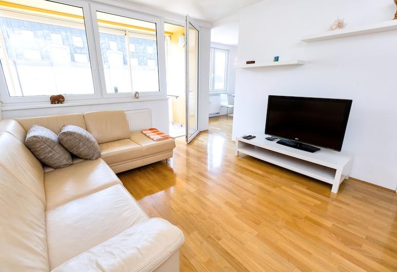 Apartment Panda 777, ليوبليان, شقة - بشرفة, منطقة المعيشة