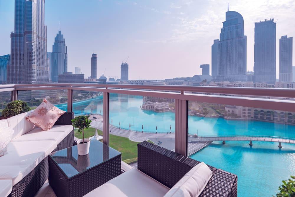 Luxury-Apartment - Balkon