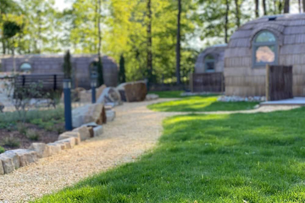 Cabaña Confort (Iglu Romantik) - Vista al jardín
