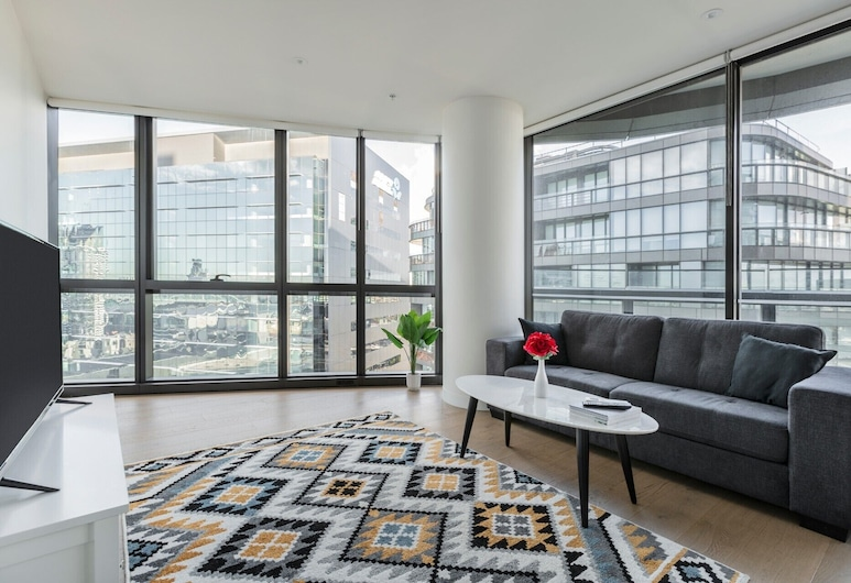 STAY&CO Serviced Apartments Docklands Collins , Docklands, Deluxe-Apartment, 1 Schlafzimmer, Wohnbereich
