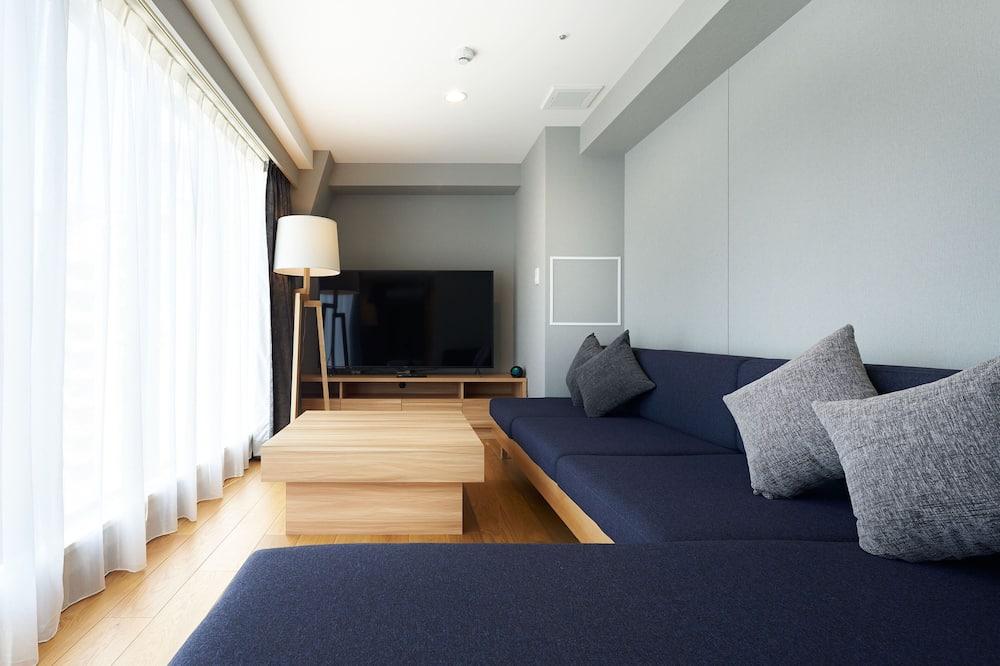 Habitación con 2 camas individuales, Varias camas, para no fumadores, refrigerador (ICHO) - Sala de estar
