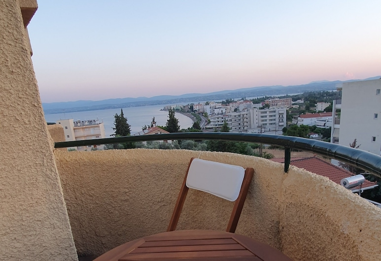 Lefkadi Apartments by the sea, Chalcis, Departamento, vista al mar, Sala de estar