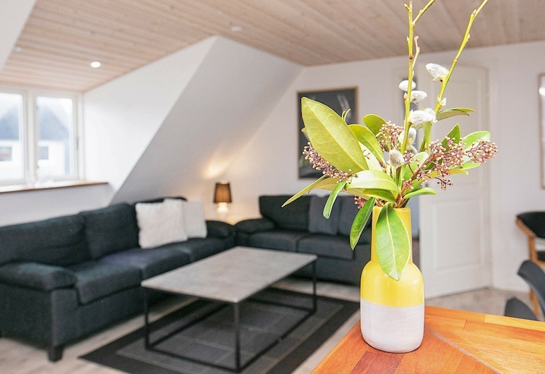Spacious Holiday Home With Terrace at Jutland, Sæby, Living Room