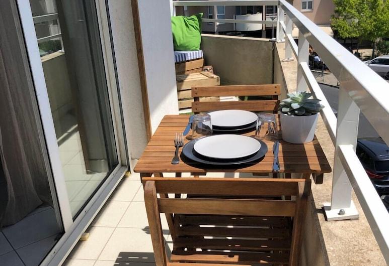 Cocon avec terrasse à 15 min du centre, Montpellier, Appartement, Balcon