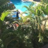 Habitación triple básica, vista a la piscina - Habitación