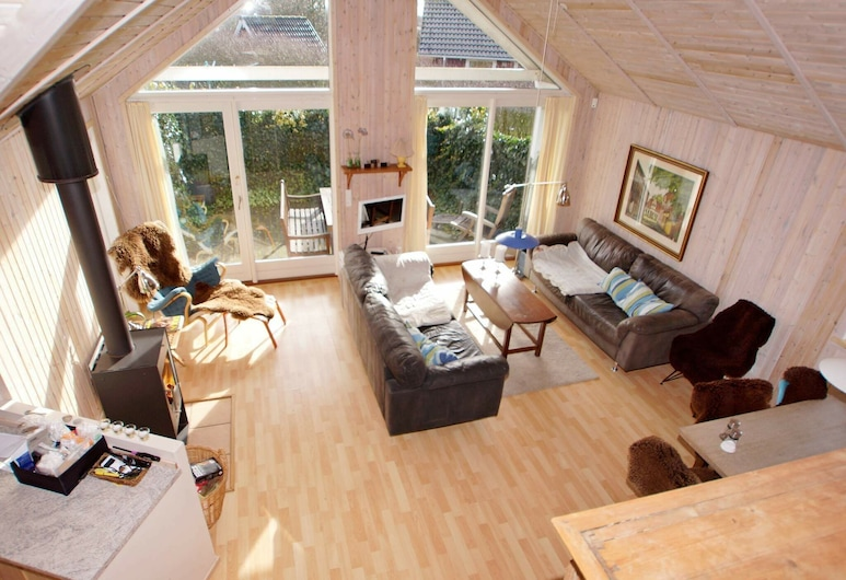 Comfortable Holiday Home With Sauna at Hemmet Jutland, Hemmet, Sala de estar