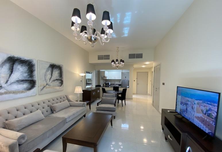 Lux BnB Polo Residencces- Meydan, Дубай, Апартаменти «Делюкс», 1 спальня, Житлова площа