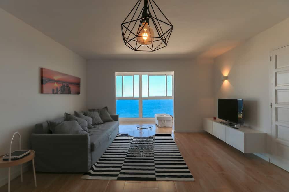 Apartmán, dvojlůžko, výhled na oceán (Tabaiba Ocean View Apartment zOlH) - Obývací pokoj