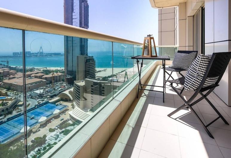شقة من غرفتي نوم مع إطلالات أخّاذة على الشاطئ في المرسى!, دبي, المنشأة من الداخل