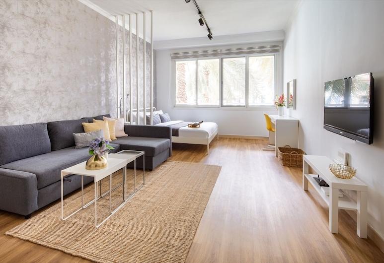 Bright & Rustic Studio In Lake Apartments, Dubaj