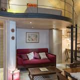 شقة - غرفة نوم واحدة - بشرفة (Loft) - منطقة المعيشة