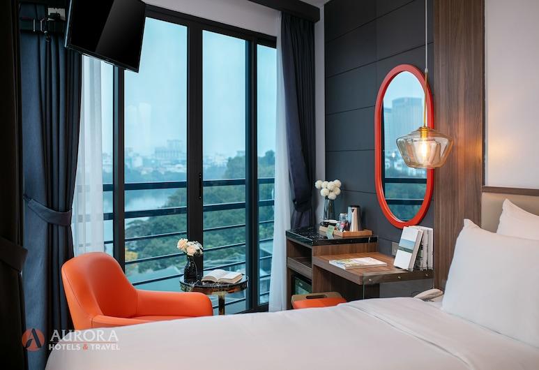 La Aurora Hang Hanh, Hanoi, Pokój, balkon, widok na jezioro (Suite), Z widokiem na jezioro
