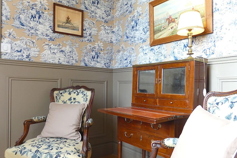 Deluxe Oda, Park Manzaralı (Chambre Brissac) - Oturma Alanı