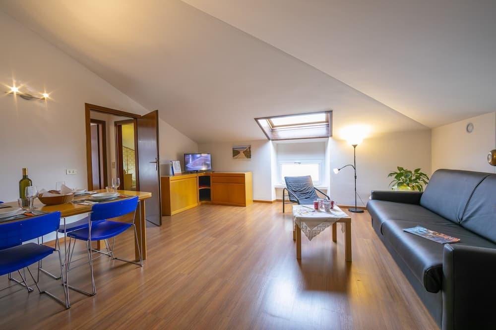 อพาร์ทเมนท์สำหรับครอบครัว, เตียงใหญ่ 1 เตียง และโซฟาเบด, ติดสวน (Casa Franco e Ilva 2) - ห้องนั่งเล่น