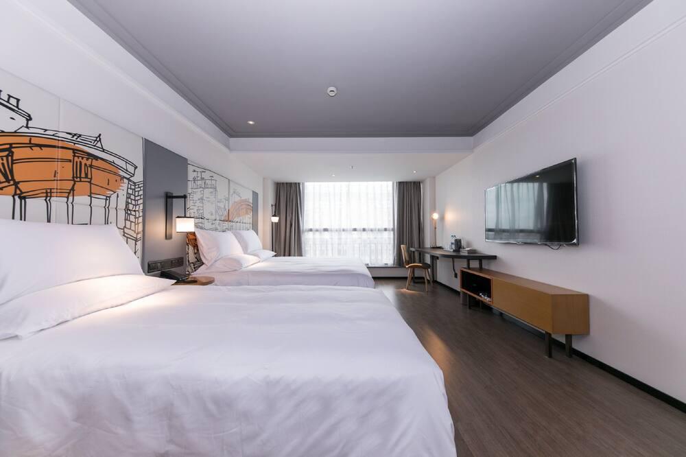 Pagerinto tipo dvivietis kambarys (2 viengulės lovos), 2 standartinės dvigulės lovos - Svetainės zona