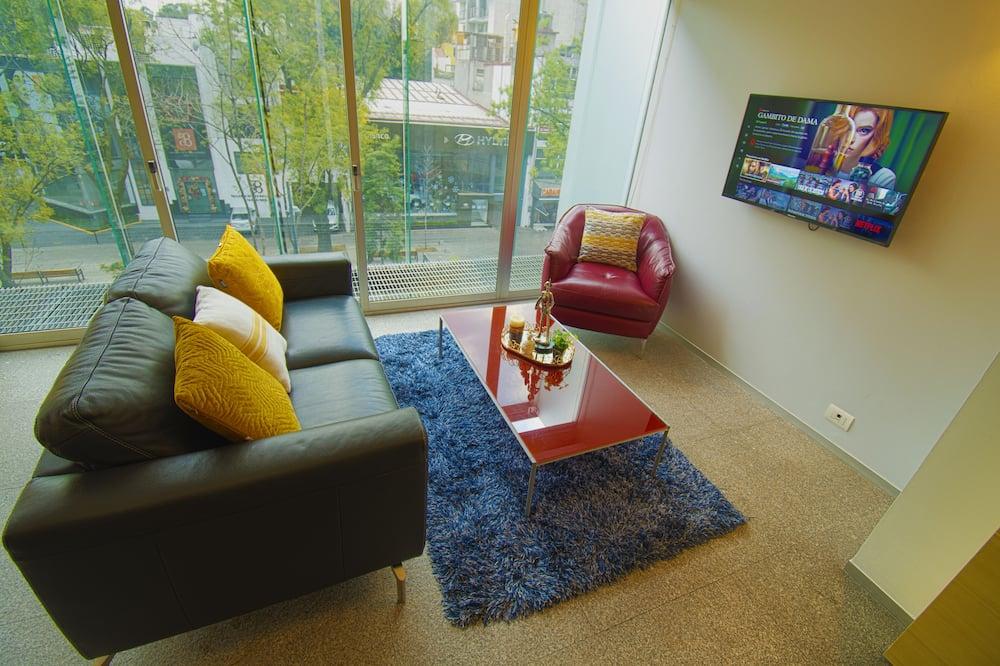 Exclusive Apartment, 1 Bedroom, City view - Svetainė
