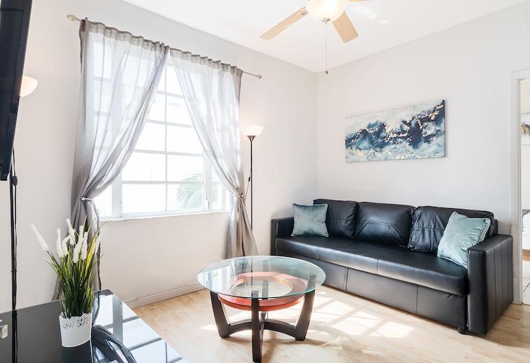 South Beach 2BR Apartment by SV Rentals, Miami Beach, Apart Daire, 2 Yatak Odası (301), Oturma Alanı