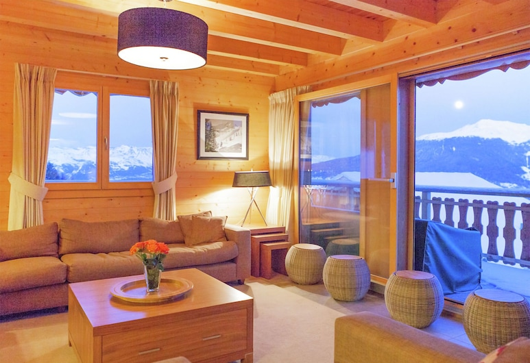 Mountain Chalet in Les Collons With Wellness Centre, 韦克斯, 起居室