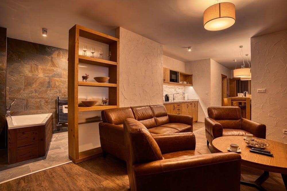 Апартаменти «Делюкс», 2 спальні, сауна, з видом на гори (5) - Житлова площа